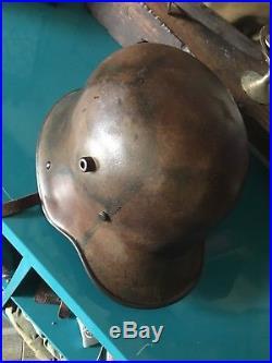 WW2 german M16 camo helmet WWII
