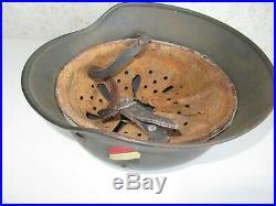 WW2 m35 double decal German Helmet Original