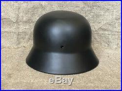 WW2 original German helmet M40, black / Waffen SS