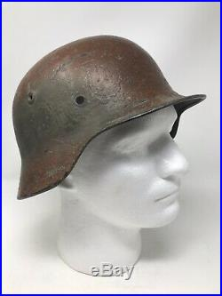 WWII 4th Infantry CPL. Jasko Utah Beach D-Day Captured 709th German Helmet Relic
