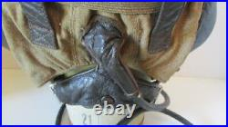 WWII GERMAN LUFTWAFFE LEATHER FLIGHT HELMET withALL ELECTRONICS WITH GOGGLES