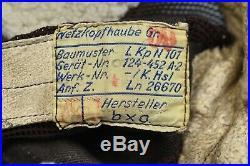 WWII GERMAN LUFTWAFFE SUMMER FLIGHT MESH HELMET withELECTRONICS
