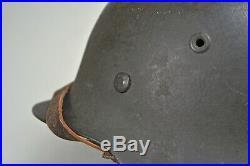 WWII GERMAN M-42 HELMET COMPLETE withLINER & CHINSTRAP CKL 64