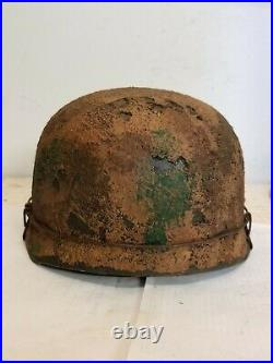 WWII GERMAN M38 Paratrooper HELMET WithHand Aged Paint Work and Liner
