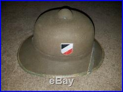 WWII German Afrika Korps pith hat helmet DAK original