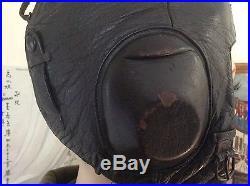 WWII German Air Force Luftwaffe LKp W101 Leather Pilot's Flight Flying Helmet