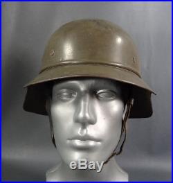 WWII German Army Luftschutz Gladiator Helmet Bulgarian Decal Liner Strap 56-57