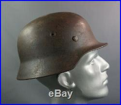 WWII German Army Wehrmacht M40 Steel Combat Helmet Size Q62 w Linear Authentic