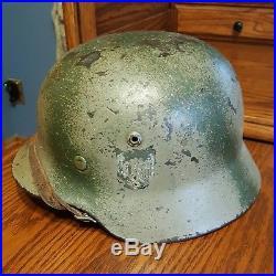 WWII German Camo Helmet