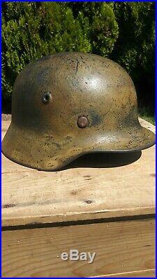 WWII German Camoflauge Helmet