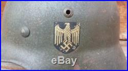 WWII German Double Decal Army Helmet with Both Decals Good helmet