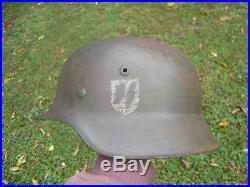WWII German Elite Steel Combat Helmet Stahlhelm Waffen Elite Florian Geyer