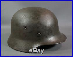 WWII German Germany Army Wehrmacht M40 Steel Combat Helmet Q64 Linear Authentic