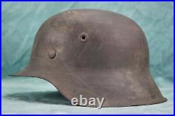 WWII German Heer m42 combat helmet soldier Wehrmacht stahlhelm Army Vet estate