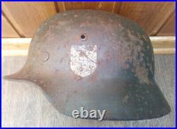 WWII German Helmet In Native Paint