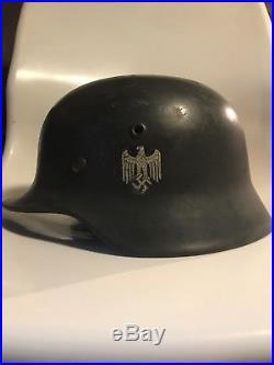 WWII German Helmet M-40 ET64 World War 2 German Military Helmet Gear