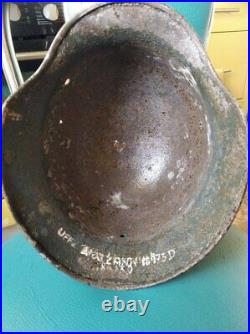 WWII German Helmet M35 Unteroffizier
