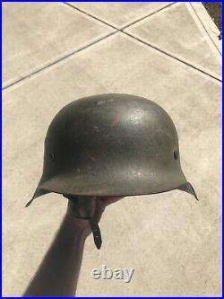 WWII German Helmet Original 1942 With Liner