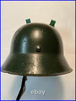 WWII German Helmet With Chin Strap No Liner / Estate Item