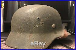 WWII German Iron Helmet M-40
