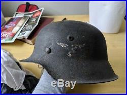 WWII German Luftwaffe Helmet WithOriginal Liner