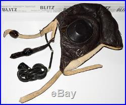 WWII German Luftwaffe LKP W101 winter flight helmet. LW
