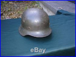 WWII German M-35 or M-40 Single Decal Helmet Heavy and solid