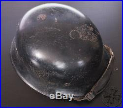 WWII German M34 helmet with inner leather and decal