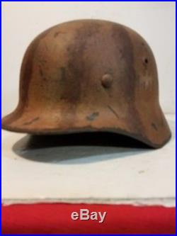 WWII German M35 Afrikakorp AK Heer Camo Helmet