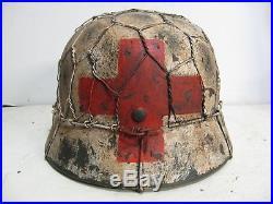 WWII German M35 Half Basket Chicken wire Winter Medic Helmet