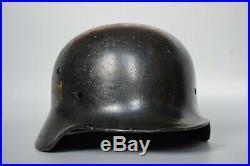 WWII German M35 Helmet Shell Original EF62