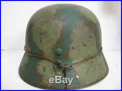 WWII German M35 Normandy Camo Helmet
