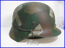 WWII German M35 Splinter Camo Helmet
