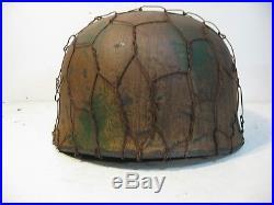 WWII German M38 Fallschirmjager FJ Normandy Paratrooper Chickenwire Helmet