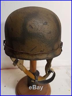 WWII German M38 Fallschirmjager Turtle Shell camo Paratrooper Helmet