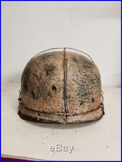 WWII German M38 Fallschirmjager Winter 3 Wire Paratrooper Helmet