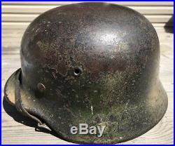 WWII German M40 Camo Helmet-Vet Bring Back