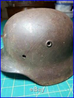 WWII German M40 Heer ET62 Combat Helmet