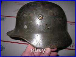 WWII German M40 helmet with leather liner size 58