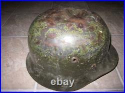 WWII German M40 steel helmet with Finnish liner size 58