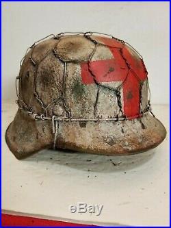 WWII German M42 Chicken wire Half basket Winter Medic Helmet