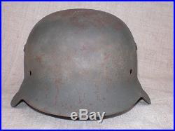 WWII German M42 Helmet. Shell Size 66