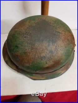 WWII German M42 Normandy Camo Helmet