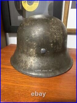 WWII German M42 SD Combat Helmet ET62 Battle Of Narva Find Foreign Volunteer