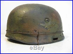 WWII German RARE M37 Fallschirmjager Normandy Paratrooper Helmet