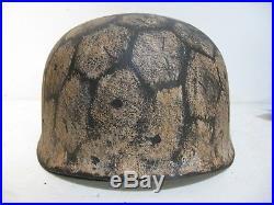 WWII German RARE M37 Fallschirmjager Winter Paratrooper Helmet