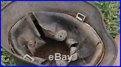 WWII German Wehrmacht helmet decalque casque helm from Russia