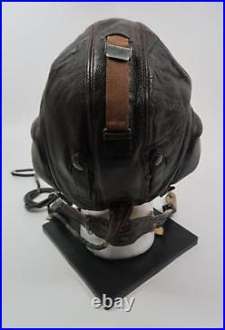 WWII German leather flight cap Luftwaffe pilot WWI mask helmet LKpW101 Air Force