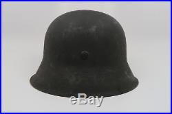 WWII German steel M42 Wehrmacht helmet Heer Luftwaffe US Army combat souvenir