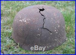WWII Germany German Original War Damaged Paratrooper M38 Fallschirmjager Helmet